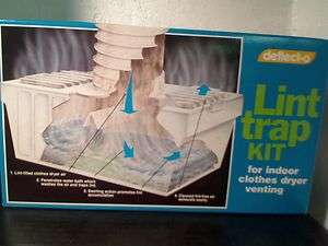 Deflect o Lint Trap Kit for Indoor Clothes Dryer Venting Model LTH