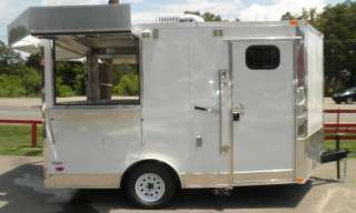 NEW 8.5 x 12 CONCESSION FOOD BBQ SMOKER TRAILER WITH SERVING WINDOWS