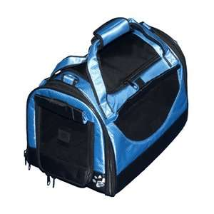 Pet Gear World Traveler Tote Bag Pet Carrier in Caribbean Blue Dogs