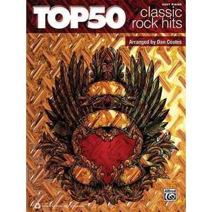 Top 50 Classic Rock Hits Easy Piano, Coates, Dan Art