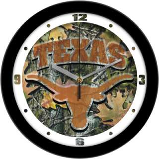 Texas Longhorns Logo Camo Wall Clock