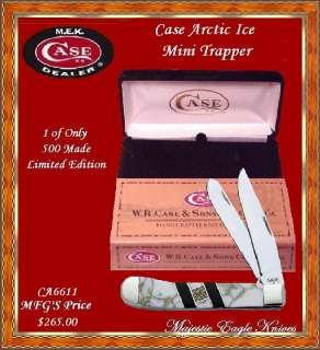 Case XX Exotic Arctic Ice. Mini Trapper Knife & Black Velvet Gift Box