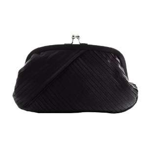 Black Satin Evening Purse   Clutch with High Quality