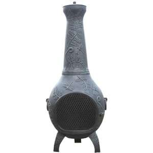 The Blue Rooster Dragonfly Chiminea: Patio Furniture