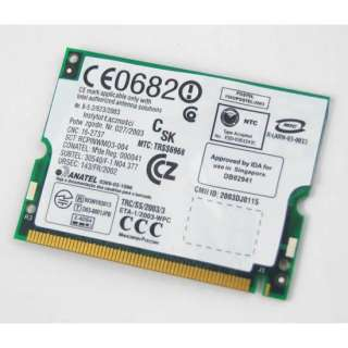 10xNew Intel Pro 2100 Wireless Mini PCI Laptop Card dell