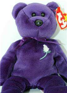 Rare 1st Edition TY Beanie Baby Princess Diana Collectible Bear