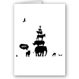 Why Take Freedom? Animal Stack. Greeting Card from Zazzle