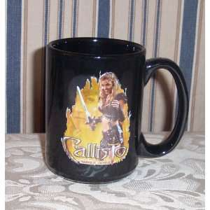 CALLISTO Hudson Leick Oversized Double Sided Ceramic Coffee MUG Xena