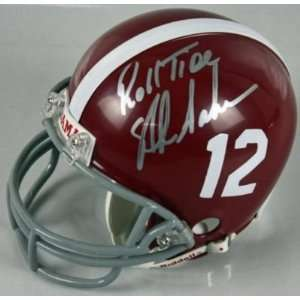 ALABAMA NICK SABAN SIGNED AUTHENTIC MINI HELMET JSA