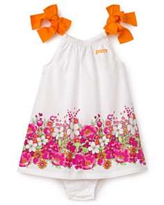 Juicy Couture Infant Girls Printed Poplin Floral Dress with Matching