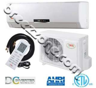DC INVERTER DUCTLESS MINI SPLIT HEAT PUMP 16 SEER 36000 BTU 3 TON,25FT