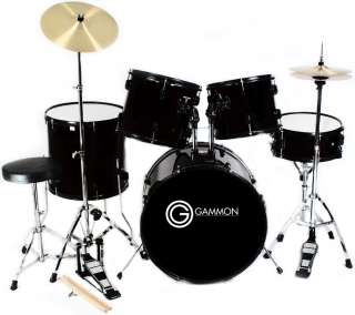 COMPLETE 5 Piece ADULT DRUM SET CYMBALS FULL SIZE 670541167977