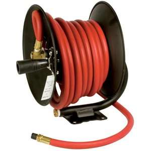 Performance M614 30 Foot Manual Air Hose Reel with Hose Tools