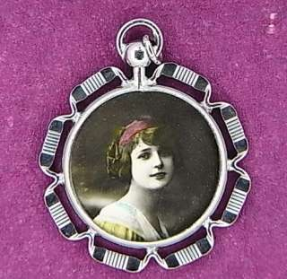 ART NOUVEAU MEMORY PENDANT JEWELRY ANTIQUE GERMAN QA59