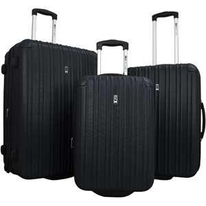 Travel Concepts Latitude 3 Piece Luggage Set, Black Luggage