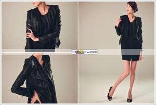 Motorcycle Biker faux Leather Jackets   Hallyu K POP Girl Group f(x