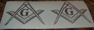 13 ~ 1 ~ 6color Mason Square & Compass Emblem/Decals