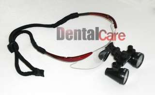 New Surgical Dental Medical 2.5X Loupes 19 500mm Red