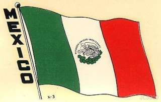 VINTAGE MEXICO STATE FLAG TRAVEL WATER WINDOW CAR DECAL