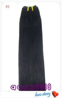 remy 45wide HUMAN HAIR WEFT/EXTENSION #01,22long,100g