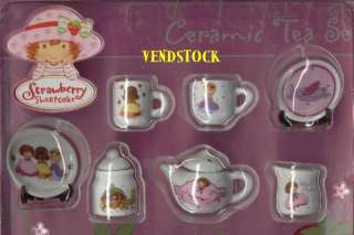 NEW STRAWBERRY SHORTCAKE MINI CERAMIC TEA SET YOU PICK