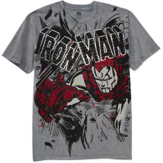 Big Mens Iron Man Granite Graphic Tee, Size 2XL Mens Big & Tall