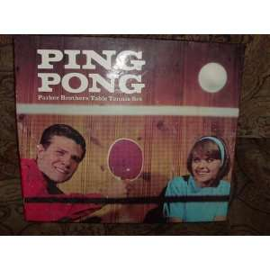 Ping Pong, 1965 Parker Brothers Table Tennis Set Toys & Games