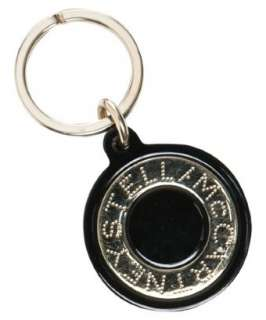 Stella McCartney black plexiglass logo key ring