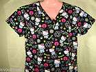 new free ship nursing cartoon scrubs top hello kitty earth