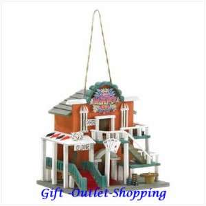 New Wood Decorative Birdhouse Casino Bird House