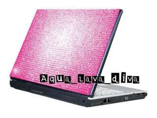 Notebook Laptop Cover Bling Rhinestone Crystal Sticker Skin 13 14 15