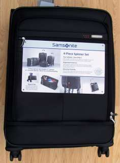 New SAMSONITE 4 piece Spinner Wheel Luggage Set Black Suitcases w