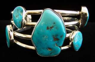 Charles Albert Sleeping Beauty Turquoise Sterling Silver Cuff Bracelet