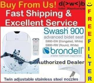 Brondell Swash 900 Bidet Toilet Seat *White *ELONGATED or ROUND