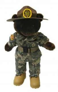 ARMY DRILL SERGEANT TEDDY BEAR (12 TALL)
