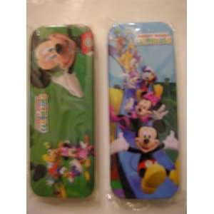 Clubhouse Metal Tin Pencil Box Case ~ Asssorted Print