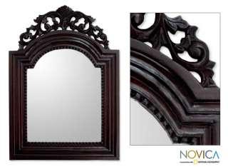 NIGHT PALACE Bali Hand Carved MAHOGANY Wall Mirror