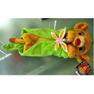 Baby Simba In Leaf Blanket Lion King Plush (Walt Disney