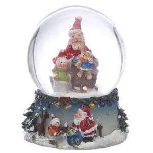 Personalized Small Santa Snow Globe   Teddy Christmas