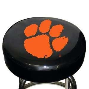 Clemson Tigers Black Team Logo Bar Stool Cover Sports